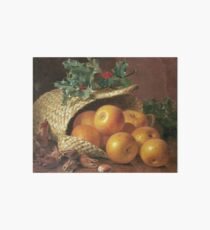 Eloise Harriet Stannard - Still Life With Apples, Hazelnuts And Holly Art Board