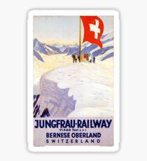 Switzerland Jungfrau Railway Vintage Poster Sticker