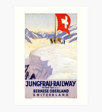 Switzerland Jungfrau Railway Vintage Poster Art Print
