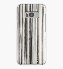 Zebra Stripes #5 Abstract Ink Design in Black and White Samsung Galaxy Case/Skin