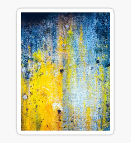 Yellow and white abstract wall Sticker