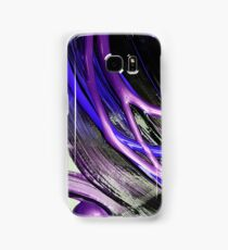 Painted background texture with blue and black stripes Samsung Galaxy Case/Skin