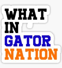 Gator Nation Text Sticker
