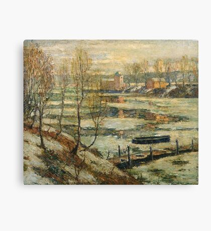 Ernest Lawson - Ice In The River Canvas Print
