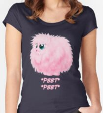 It's so fluffy! Women's Fitted Scoop T-Shirt