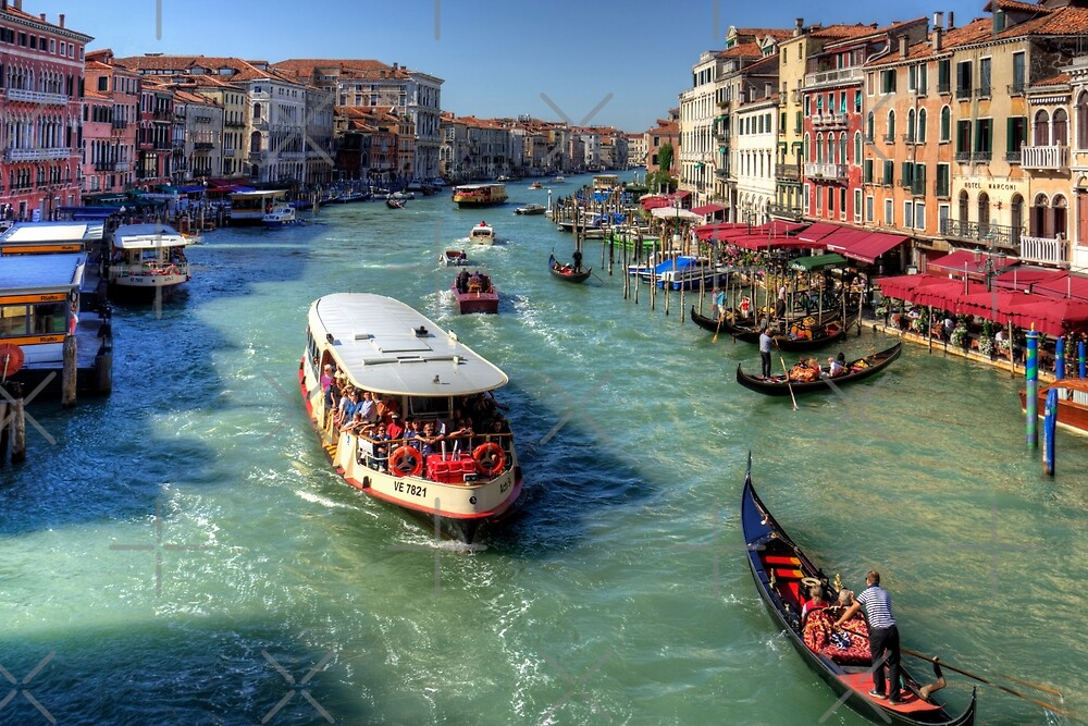Traffic on the Grand Canal by Tom Gomez