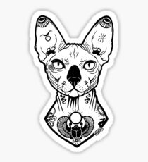 sphynx tattooed Sticker