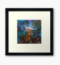 Galaxy Golden treasures Framed Print
