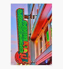 Paradise Park Nashville Sign Photographic Print