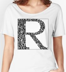 R Shadow | Typography Women's Relaxed Fit T-Shirt