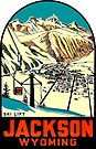Jackson Wyoming Vintage Travel Decal by hilda74