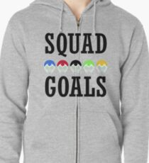 Voltron Inspired Squad Goals  Zipped Hoodie
