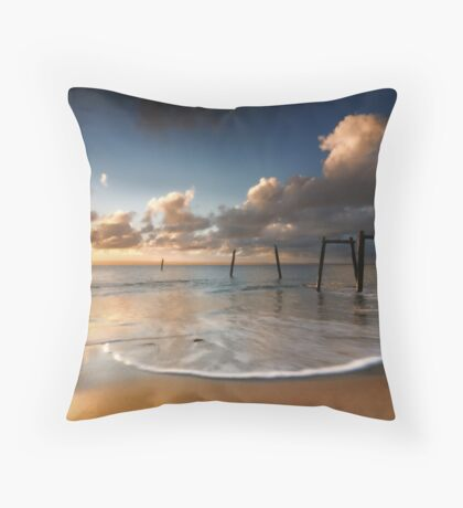 Cat Bay Jetty Throw Pillow