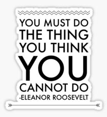 Eleanor Roosevelt Quotes Stickers Redbubble
