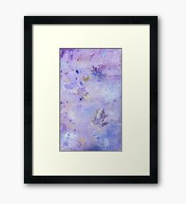Lavender Clouds with Leaves Framed Print