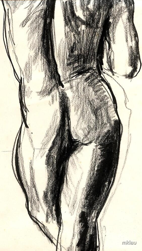 nude male torso by mklau