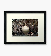 Oil ceramic Framed Print
