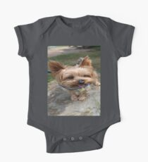A Yorkie's Smile One Piece - Short Sleeve