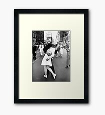 Kissing World War II Goodbye Framed Print