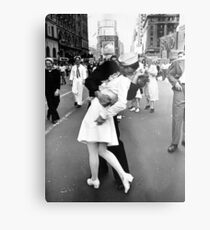 Kissing World War II Goodbye Metal Print