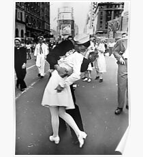 Kissing World War II Goodbye Poster