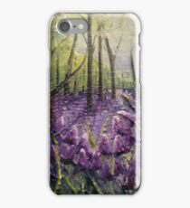Bluebell Woods Oil Painting by Angela Brown Art iPhone Case/Skin