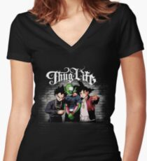 Thug life Goku, piccolo, Vegeta Women's Fitted V-Neck T-Shirt