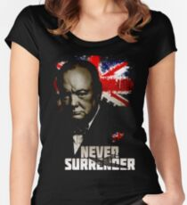Allied Nations - Winston Churchill Women's Fitted Scoop T-Shirt