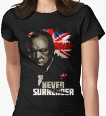 Allied Nations - Winston Churchill Women's Fitted T-Shirt