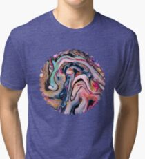 Colorful Fantasy Abstraction Tri-blend T-Shirt