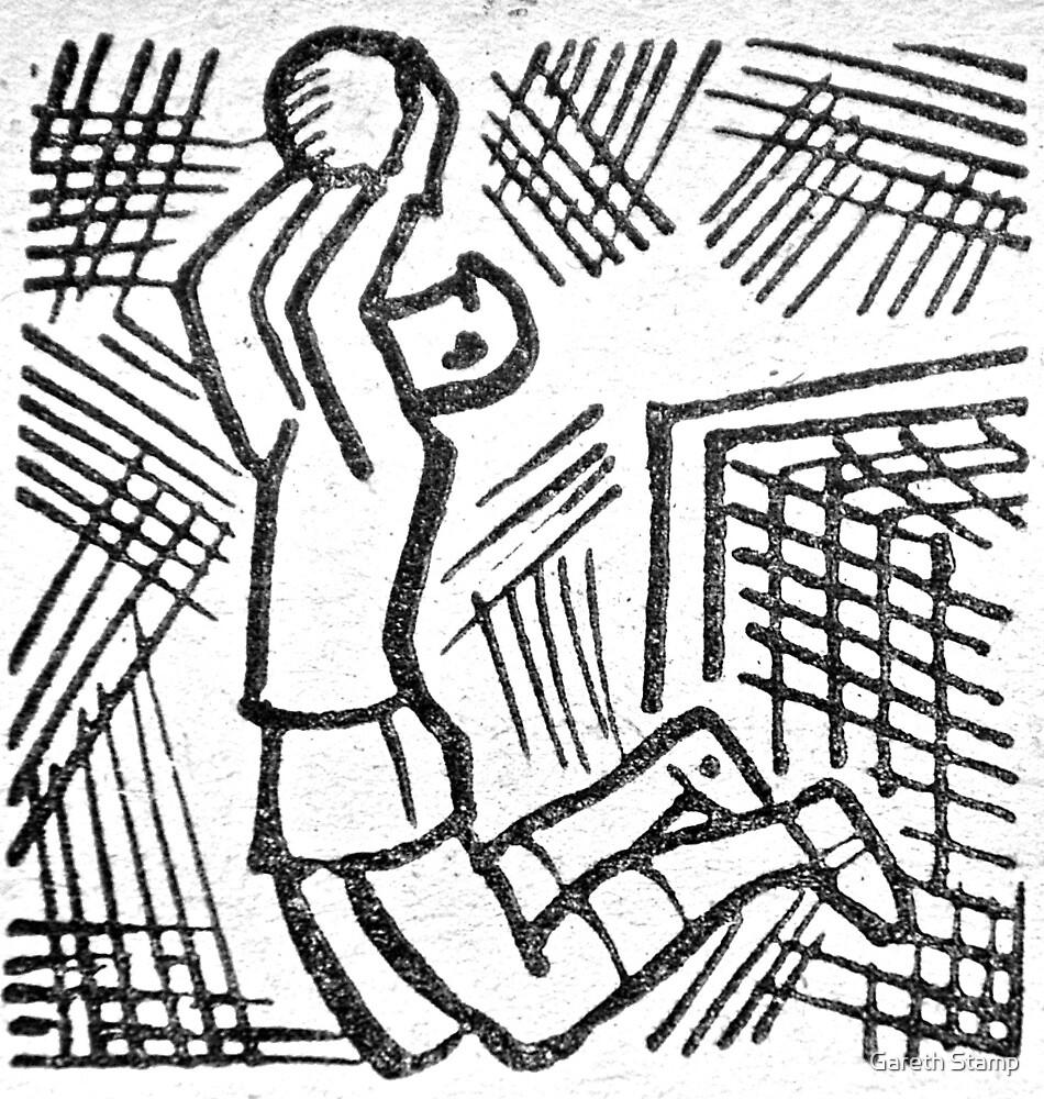 soviet football goalkeeper retro by Gareth Stamp