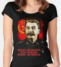 Allied Nations - Joseph Stalin Women's Fitted Scoop T-Shirt