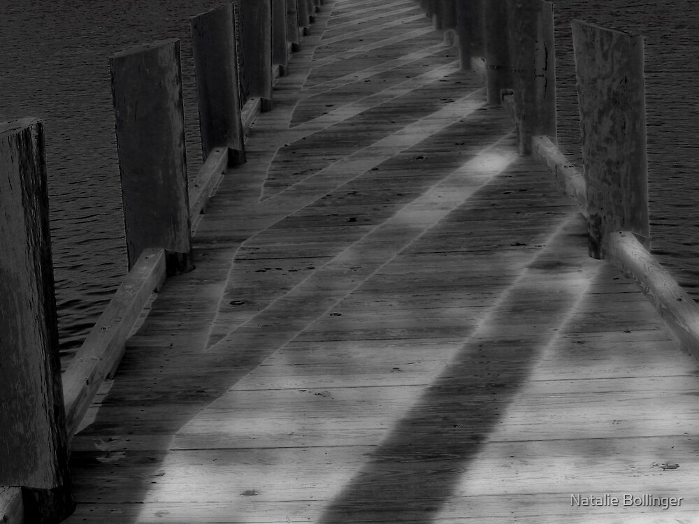 Dark Pier Card by Natalie Bollinger