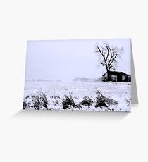 Blowing Snow Greeting Card