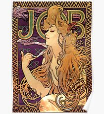 "Alphonse Mucha Vintage Advertisement ""Job Cigarettes"" Poster"