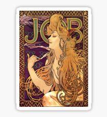 "Alphonse Mucha Vintage Advertisement ""Job Cigarettes"" Sticker"