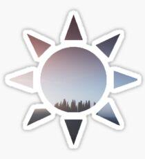 tree sunset Sticker