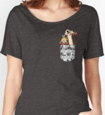 Calvin and Hobbes Pocket Women's Relaxed Fit T-Shirt
