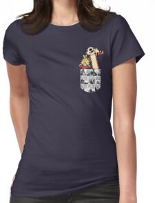 Calvin and Hobbes Pocket Womens Fitted T-Shirt