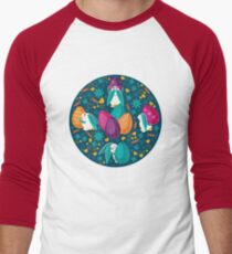 Busy Easter Bunnies 1 Men's Baseball ¾ T-Shirt