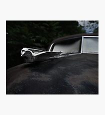 Abandoned 1948 Cadillac Limo Hood Ornament Photographic Print