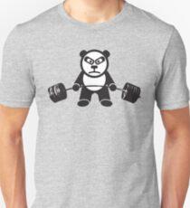 Cute Panda Bear Gewichtheben - Kreuzheben Slim Fit T-Shirt