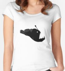 Angler Fish Graphic Women's Fitted Scoop T-Shirt