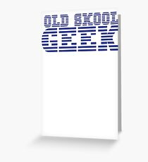 OLD SKOOL ibm GEEK Greeting Card