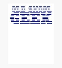 OLD SKOOL ibm GEEK Photographic Print