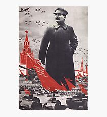 Stalin Poster Soviet Propaganda Photographic Print