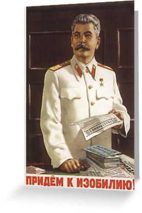 Stalin Poster Soviet Propaganda By Khokhloma