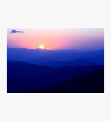 Mountain Sunset Photographic Print