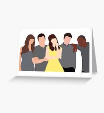 New Girl Characters Greeting Card