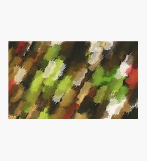 psychedelic graffiti camouflage painting abstract in green brown and red Photographic Print